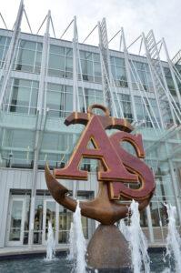 Pictured here is the Newport News Apprentice School bronze sculpture.